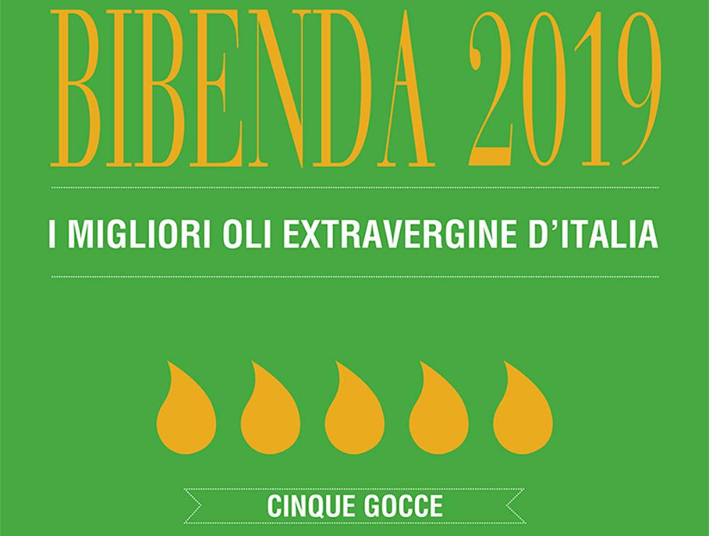 Premio 5 Gocce d'eccellenza di Bibenda per il nostro olio 2019
