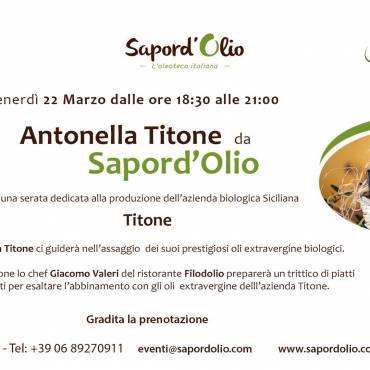 L'olio extravergine Titone da Sapord'Olio